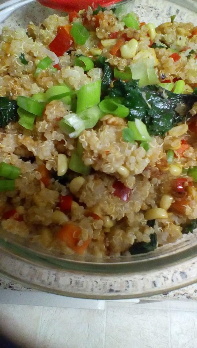 Quinoa with Veggies Recipe – Allrecipes.com – Kitchensinkfoodie