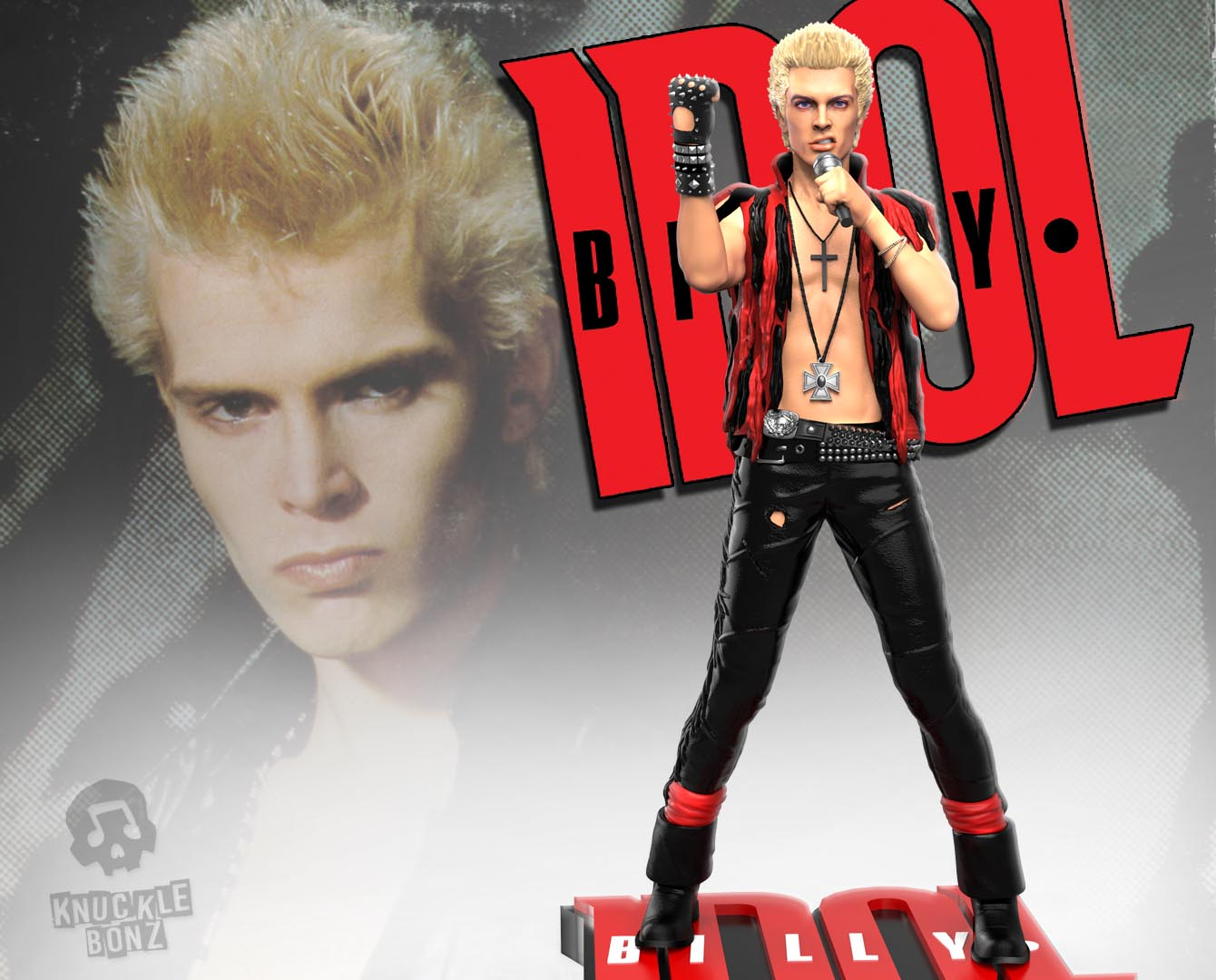 Billy Idol Rock Iconz Statue     Knucklebonz  Inc  Previous