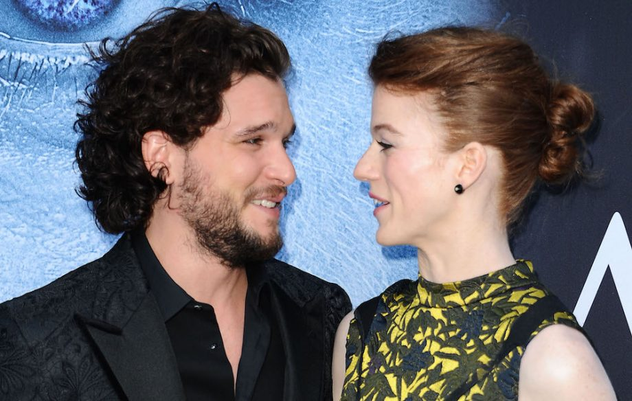 Kit Harington on botching his proposal to  Game Of Thrones  co star     Kit Harington and Rose Leslie