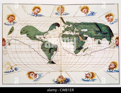 Map of 1536 Stock Photo  184214753   Alamy Map of Ferdinand Magellan s 1519 1521 voyage  published in 1536   Stock  Photo