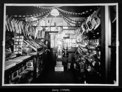 Store Interior Black and White Stock Photos & Images - Alamy
