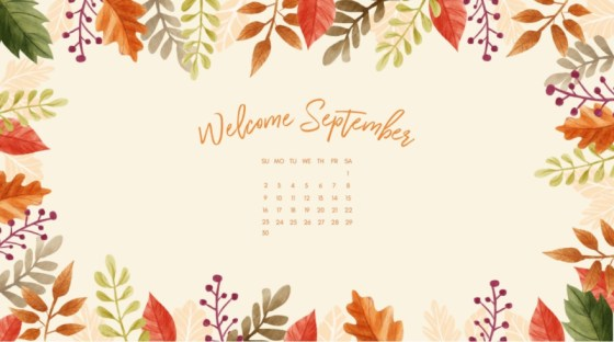 Calendriers septembre 2018 – September 2018 wallpaper calendars – La bibliothèque de Sev