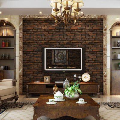 3D Stone Brick Design Vinyl Wallpaper - Life Changing Products