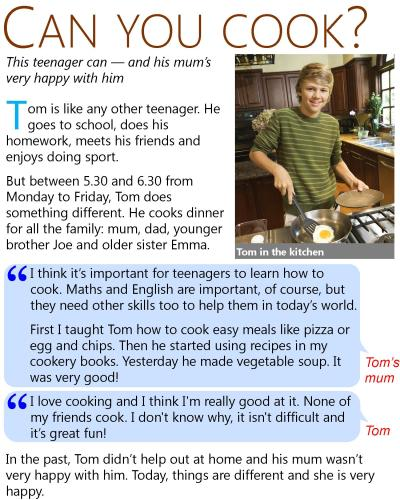 Can you cook? | LearnEnglish Teens - British Council