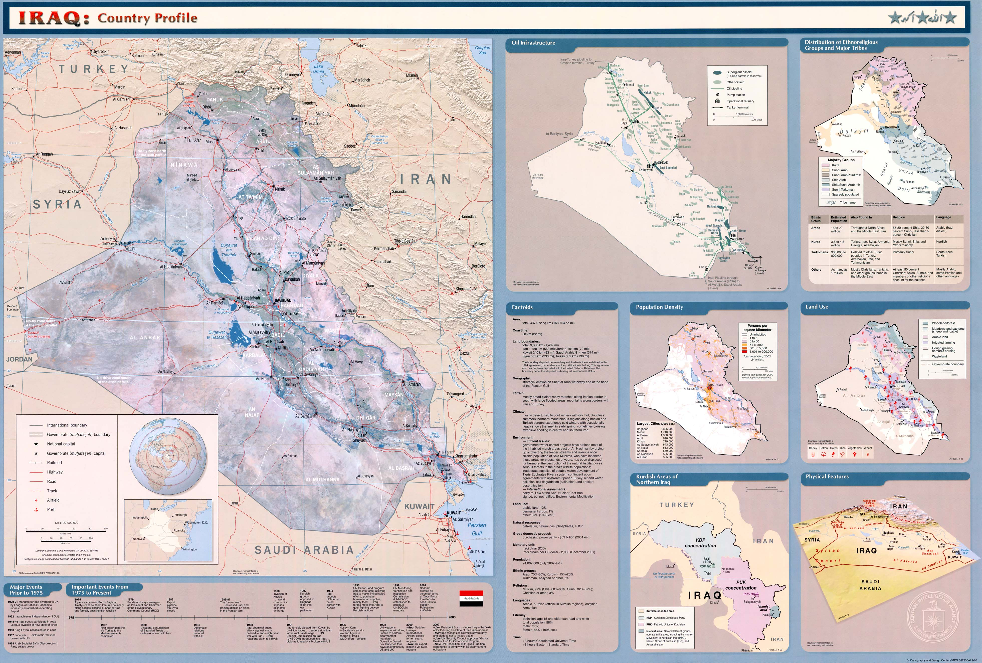 Iraq Maps   Perry Casta    eda Map Collection   UT Library Online     2003 and Entire Map