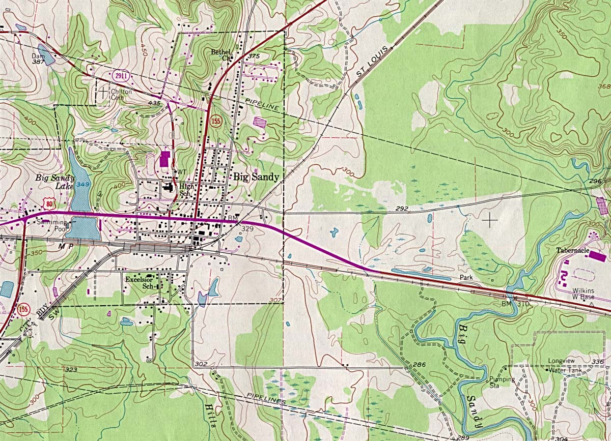 Texas City Maps   Perry Casta    eda Map Collection   UT Library Online     Big Sandy   Topographic Map