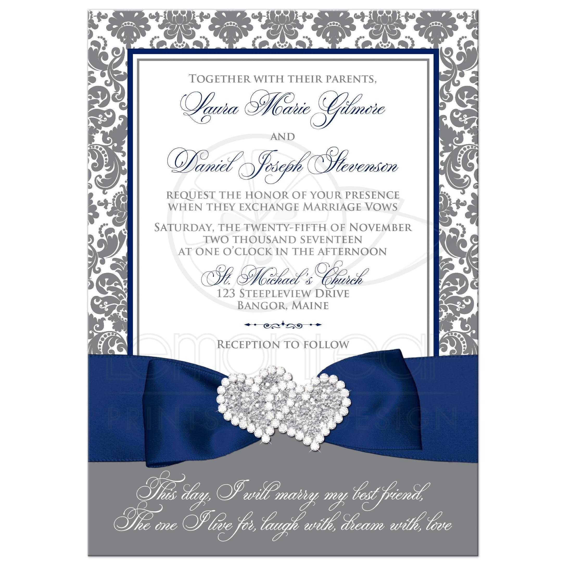 82 damask wedding invitations Gold Damask Scroll Bright White Wedding Invitations