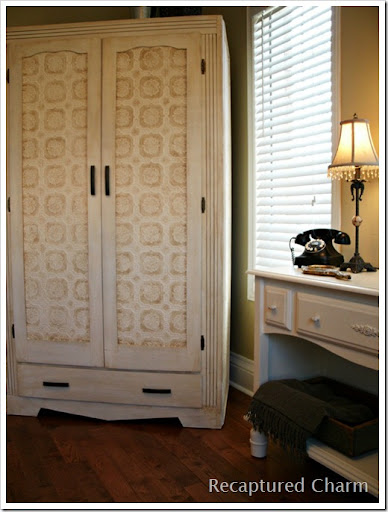 Recaptured Charm: Wallpapered Armoire