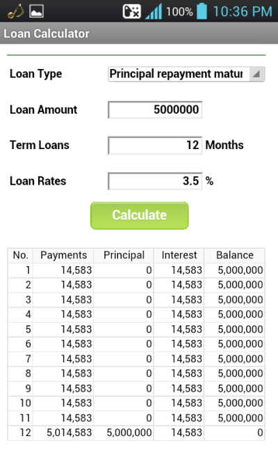 Loan Calculator (Installment) - Android Apps on Google Play