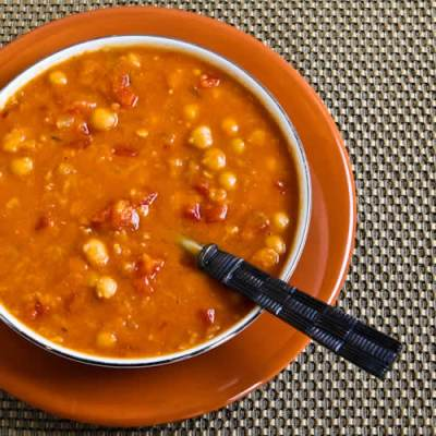 Crockpot Red Lentil, Chickpea, and Tomato Soup with Smoked Paprika - Kalyn's Kitchen