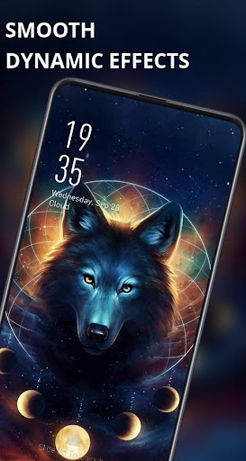 Wolf king round moon live wallpaper Mod Apk Unlimited Android - apkmodfree.com