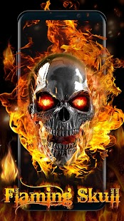 3D Flaming Skull Live Wallpaper for Free | App Report on Mobile Action