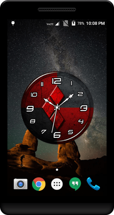 Red Clock Live Wallpaper - Android Apps on Google Play