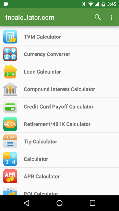 Financial Calculators Pro - Android Apps on Google Play