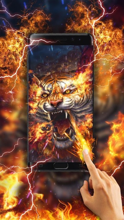 Flame Tiger Live Wallpaper - Android Apps on Google Play