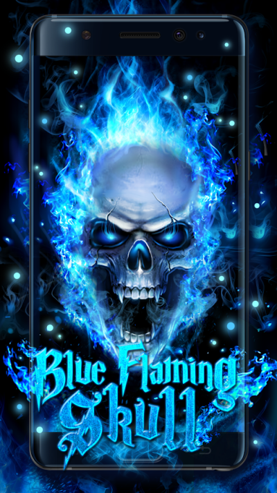 Blue Fire Skull Live Wallpaper - Android Apps on Google Play