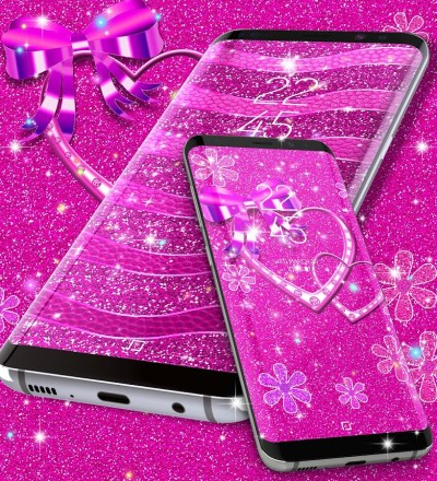 Pink glitter live wallpaper - Android Apps on Google Play