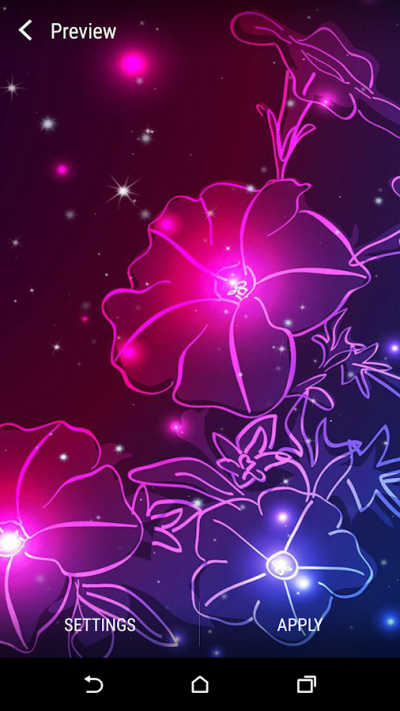 Neon Flower Live Wallpaper - Android Apps on Google Play