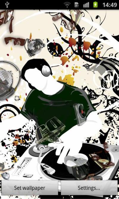 Music DJ Live Wallpaper- screenshot