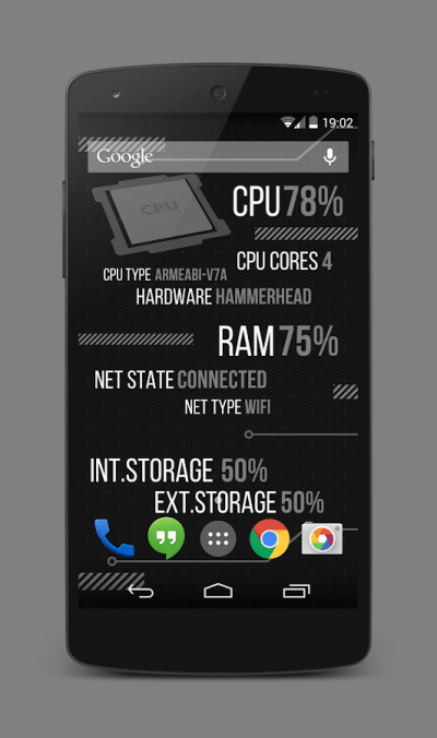 Holo Droid Free - best device info live wallpaper - Android Apps on Google Play