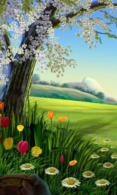 Cartoon Nature Live Wallpaper - Android Apps on Google Play