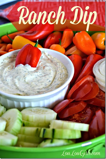 Homemade Ranch Dip from Scratch (Whole 30) - Lou Lou Girls