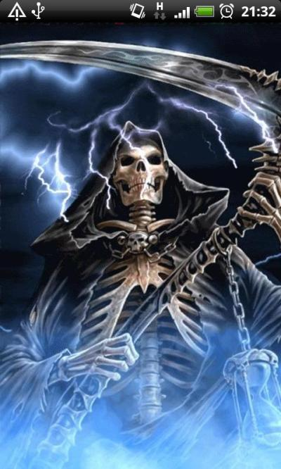 Blue Fire Grim Reaper Live Wallpaper Theme - Android Apps on Google Play
