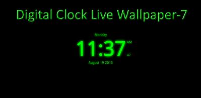 Digital Clock Live Wallpaper-7 2.41 Apk - com.style_7.digitalclocklivewallpaper_7 APK 비어 있는