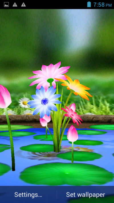 3D Flowers Touch Wallpaper - Android Apps on Google Play
