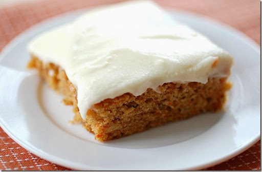Carrot Sheet Cake With Cream Cheese Frosting Recipe — Dishmaps