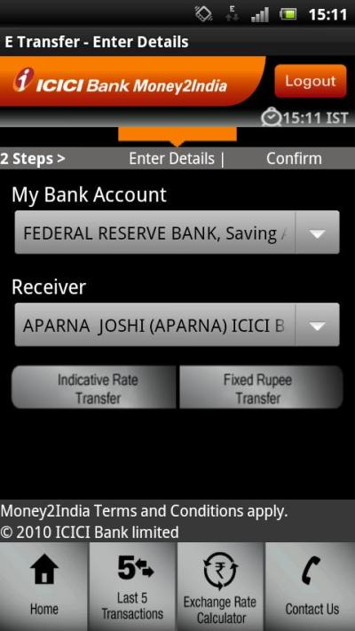 ICICI Bank Money2India - Android Apps on Google Play