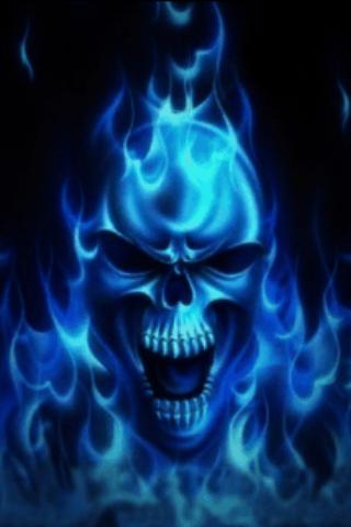 Blue Skull Live Wallpaper – Applications Android sur ...