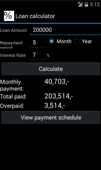 Easy loan calculator - Android Apps on Google Play