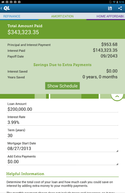 Mortgage Calculator by QL - Android Apps on Google Play
