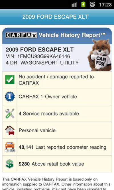 CARFAX Reports - Android Apps on Google Play