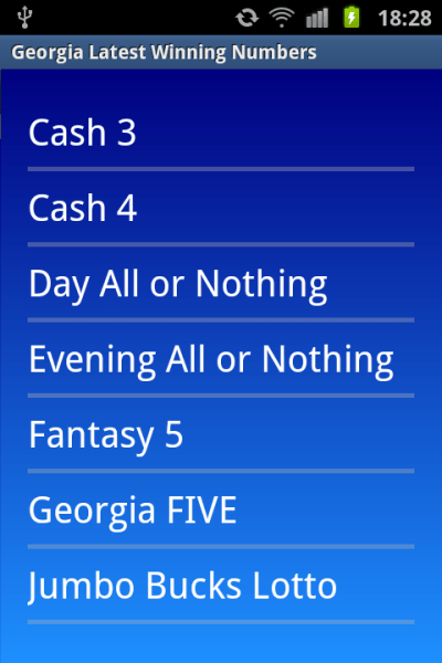 Georgia winning numbers - Android Apps on Google Play