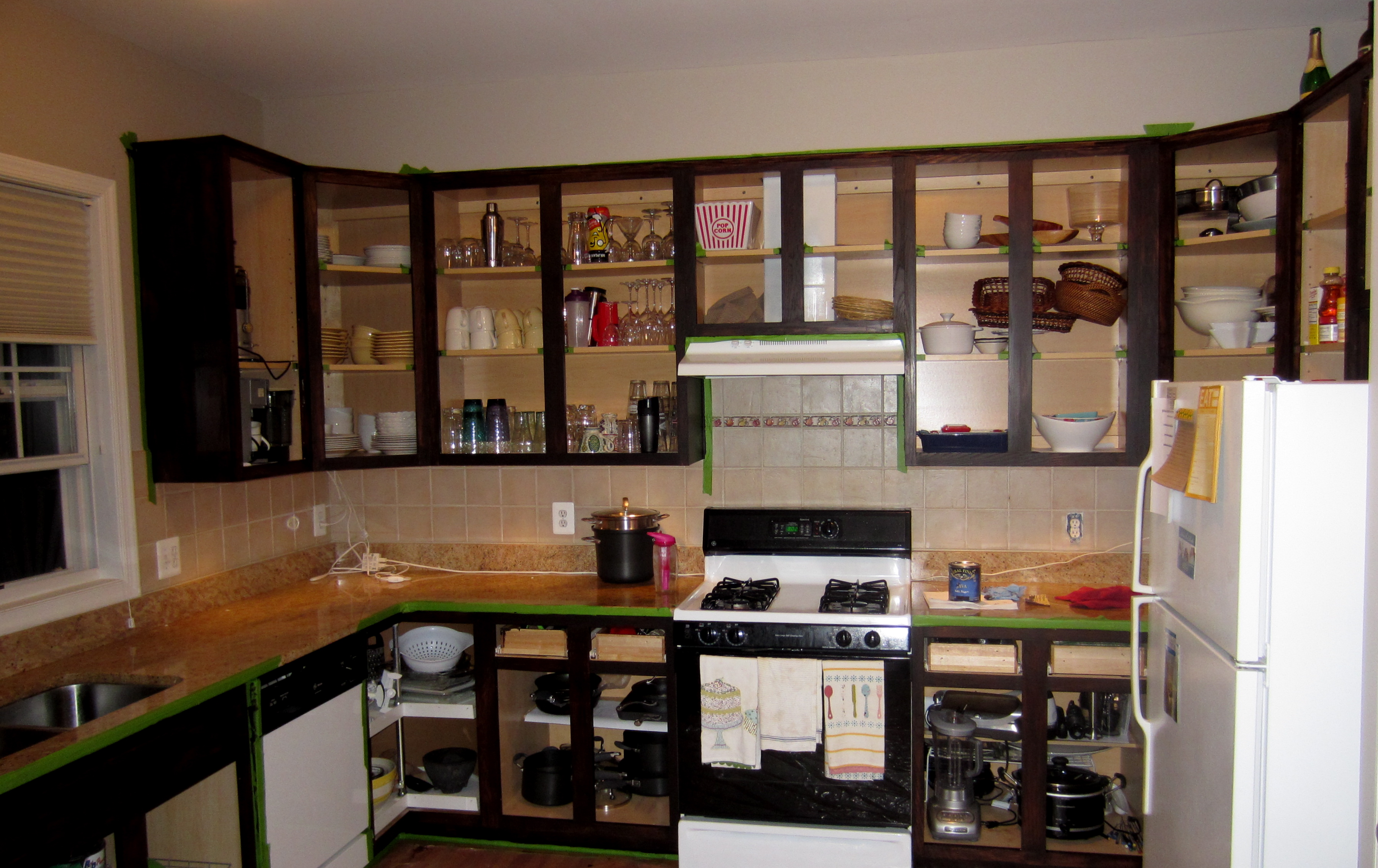 home staining kitchen cabinets The