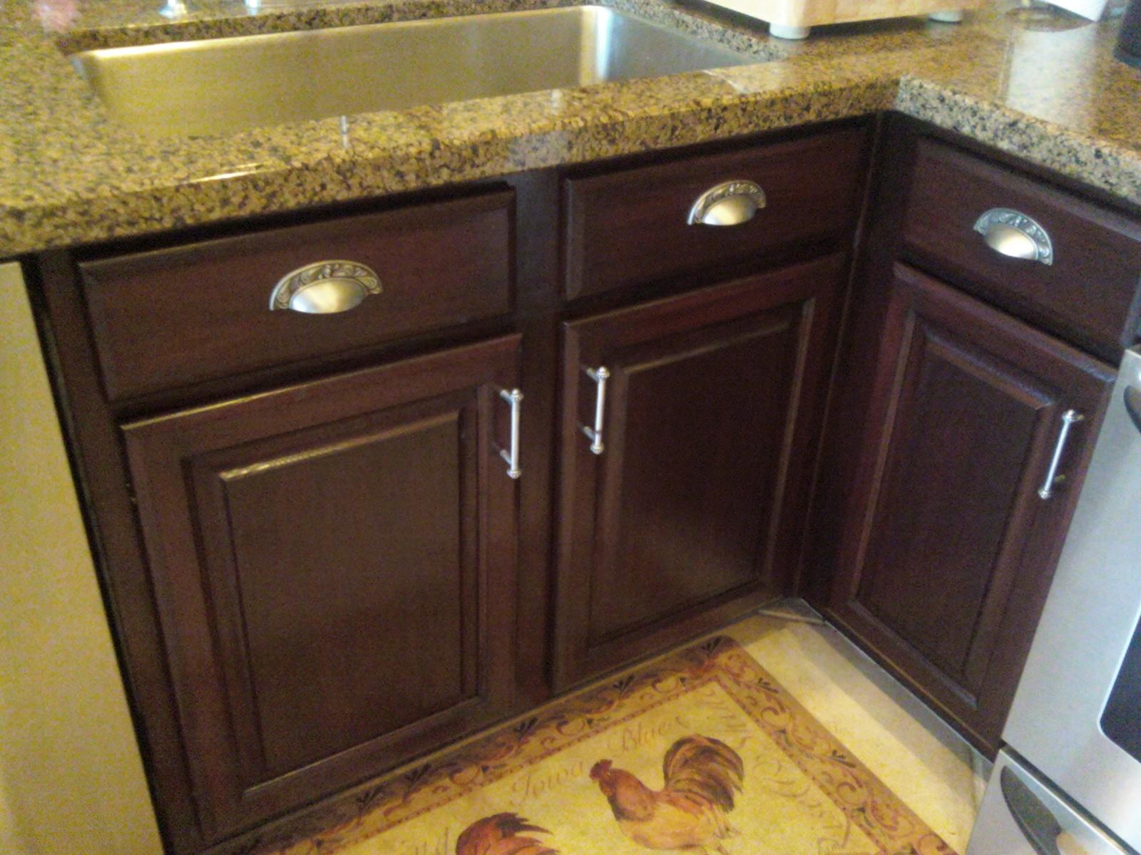 kitchen cabinets 3 staining kitchen cabinets Kitchen cabinets After custom staining