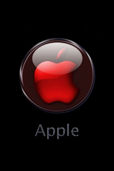 Red Crystal Apple Logo iPhone Wallpaper - iPhone 4/4s iPod Touch Backgrounds - Free iPhone ...