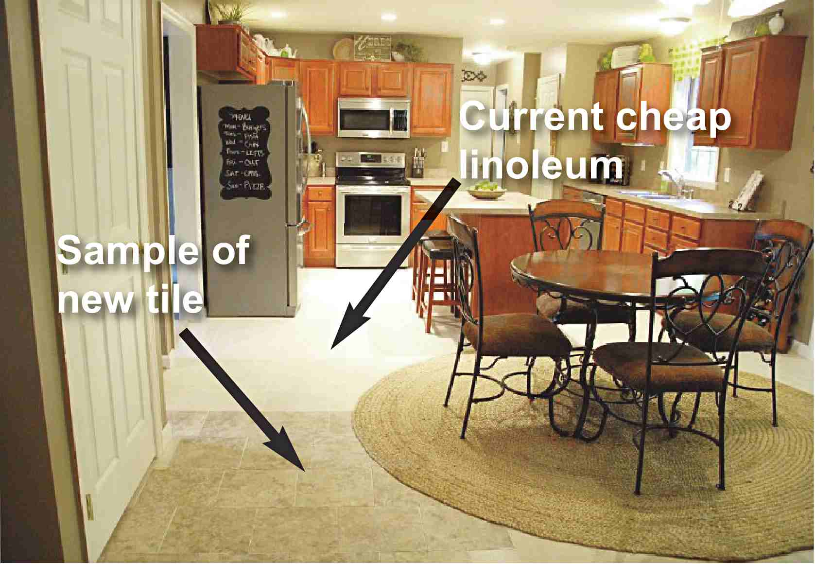 help us pick our kitchen floor kitchen flooring vinyl We can slap the flooring