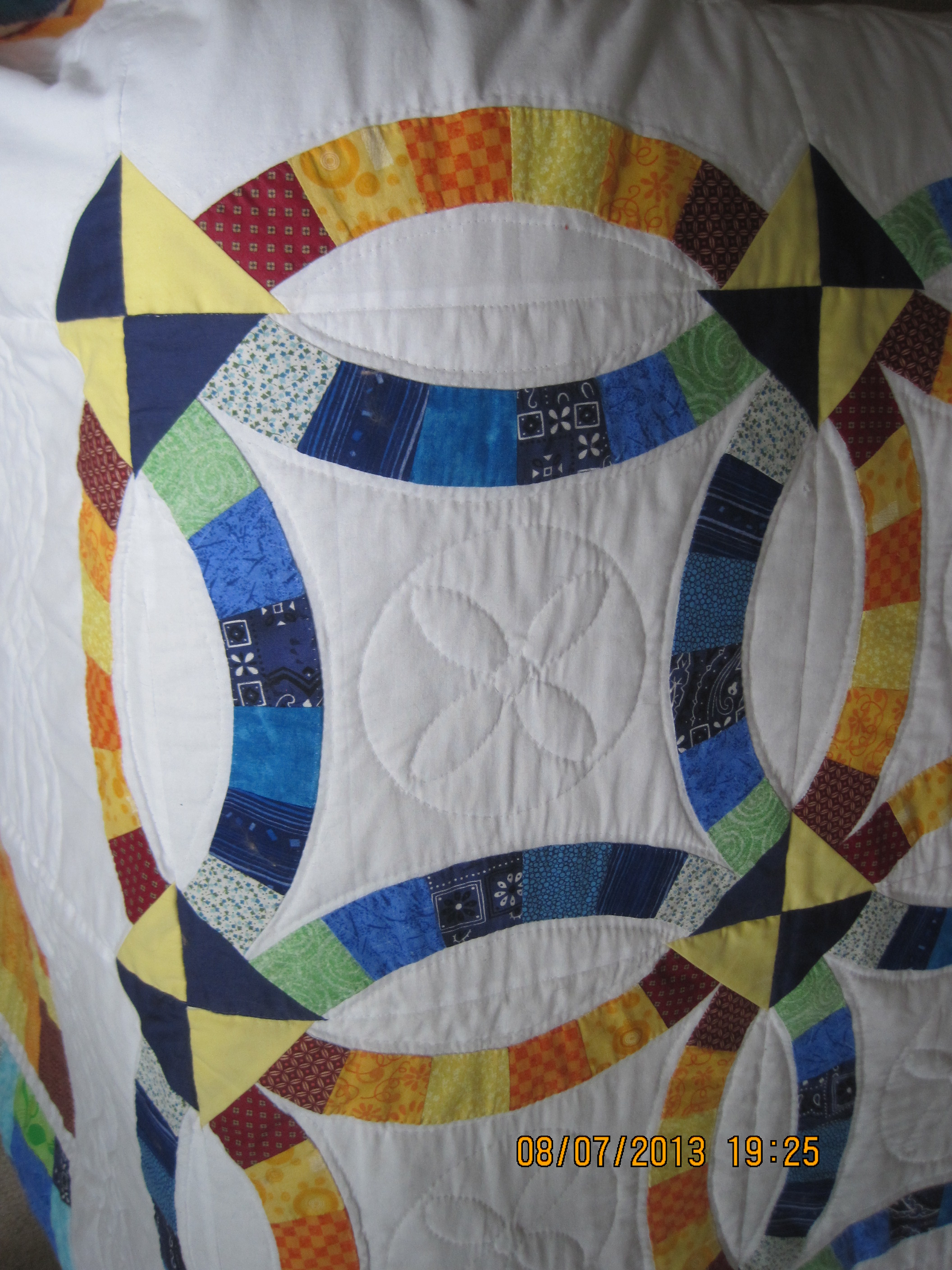 double wedding ring quilt wedding ring quilt Double Wedding Ring 4 Judith Brill