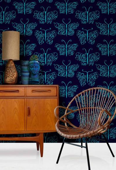 Wallpaper Wednesday: Camberwell Beauty from Mini Moderns - Love Chic Living