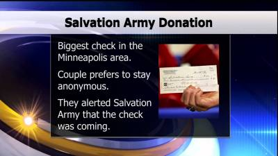 Huge Salvation Army Donation – Lakeland News at Ten – November 30, 2015