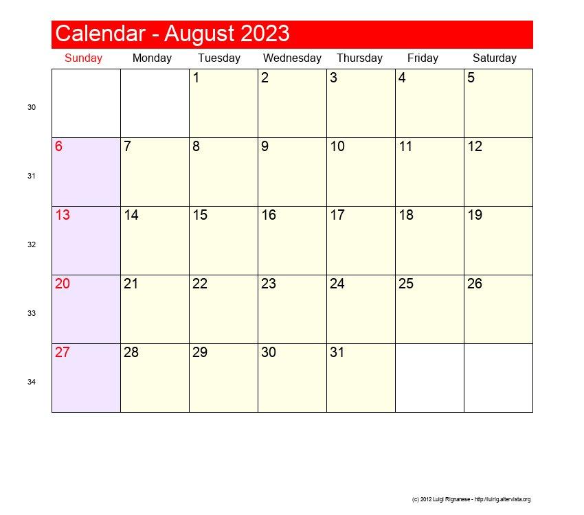 August 1907 - Roman Catholic Saints Calendar