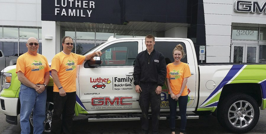 Family Buick GMC vehicles  staff run in Fargo marathon   Luther News Jerry Grosz  Shawn Preabt  Derrick Nelson and Emily Ebens
