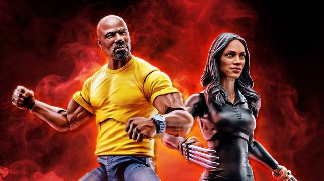 New Marvel Legends Netflix Luke Cage and Claire Temple revealed marvel legends netflix luke cage and claire temple