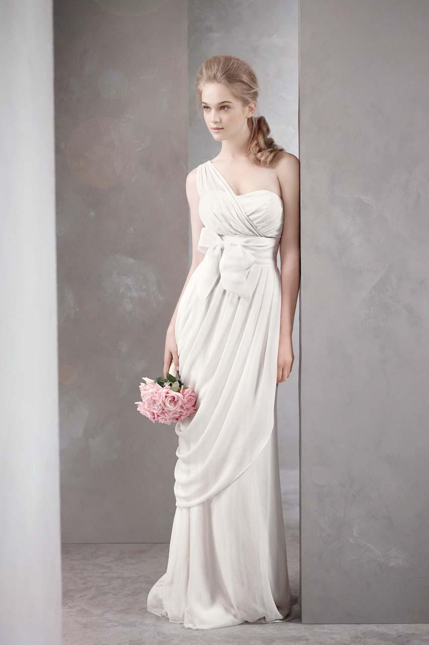 aisle style grecian style wedding gowns grecian wedding dress 2 White by Vera Wang Style VW