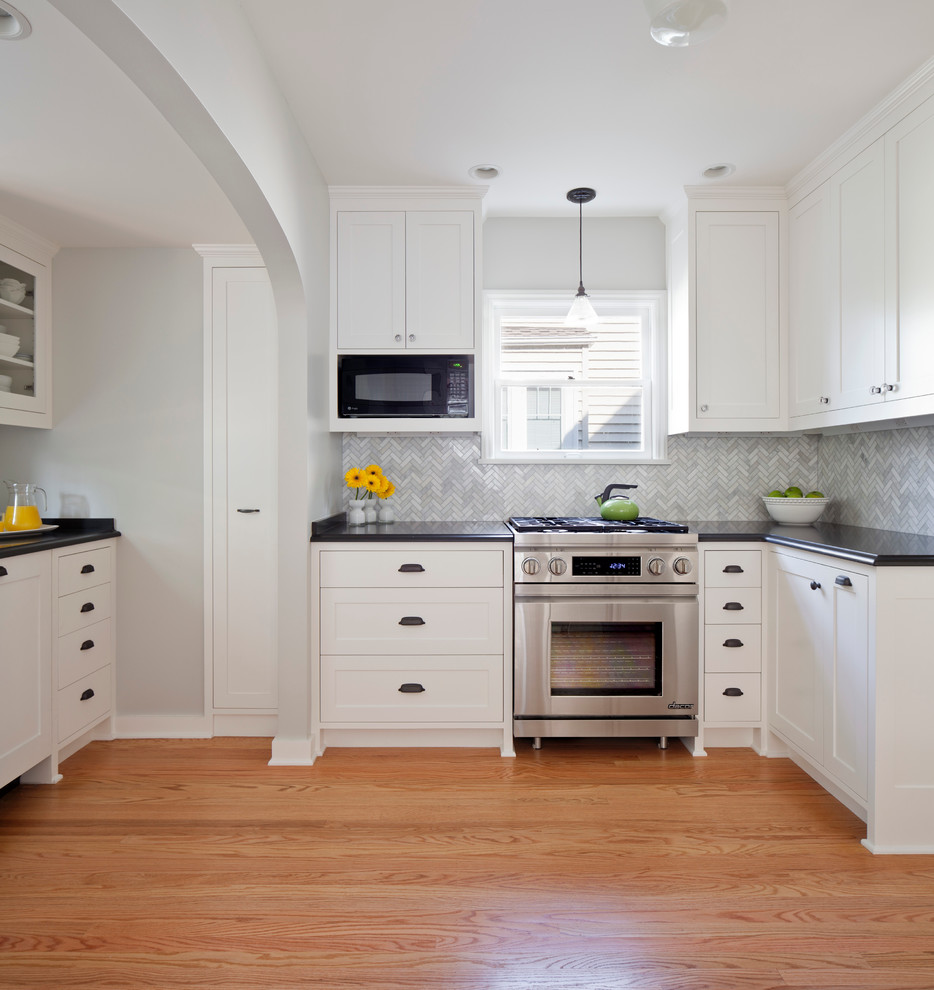 Impressive drawer pulls and knobs in Kitchen Traditional with Retractable Downdraft Vent next to Herringbone Backsplash alongside Simply White andKitchen Cabinet Pulls And Knobs