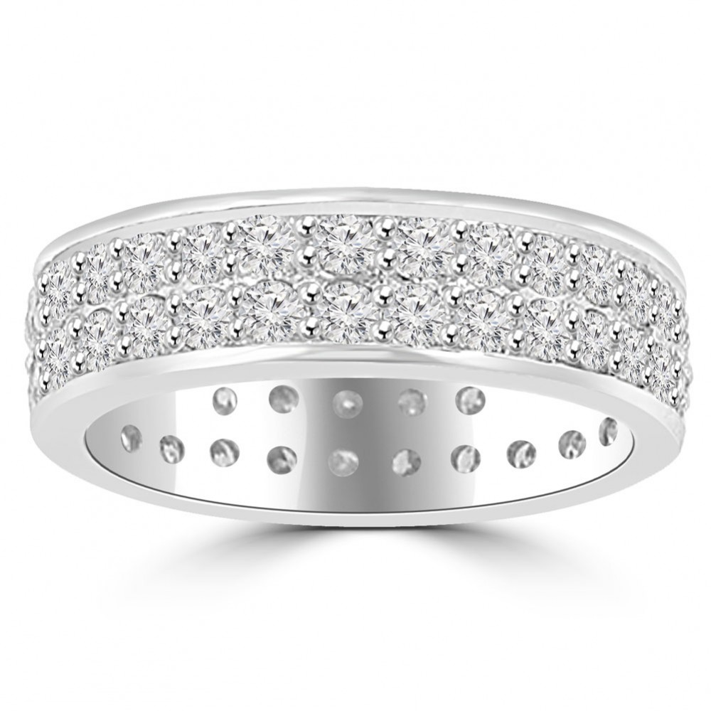 Men's Eternity Wedding Band mens diamond wedding bands 3 40 ct Men s Round Cut Diamond Eternity Wedding Band Ring