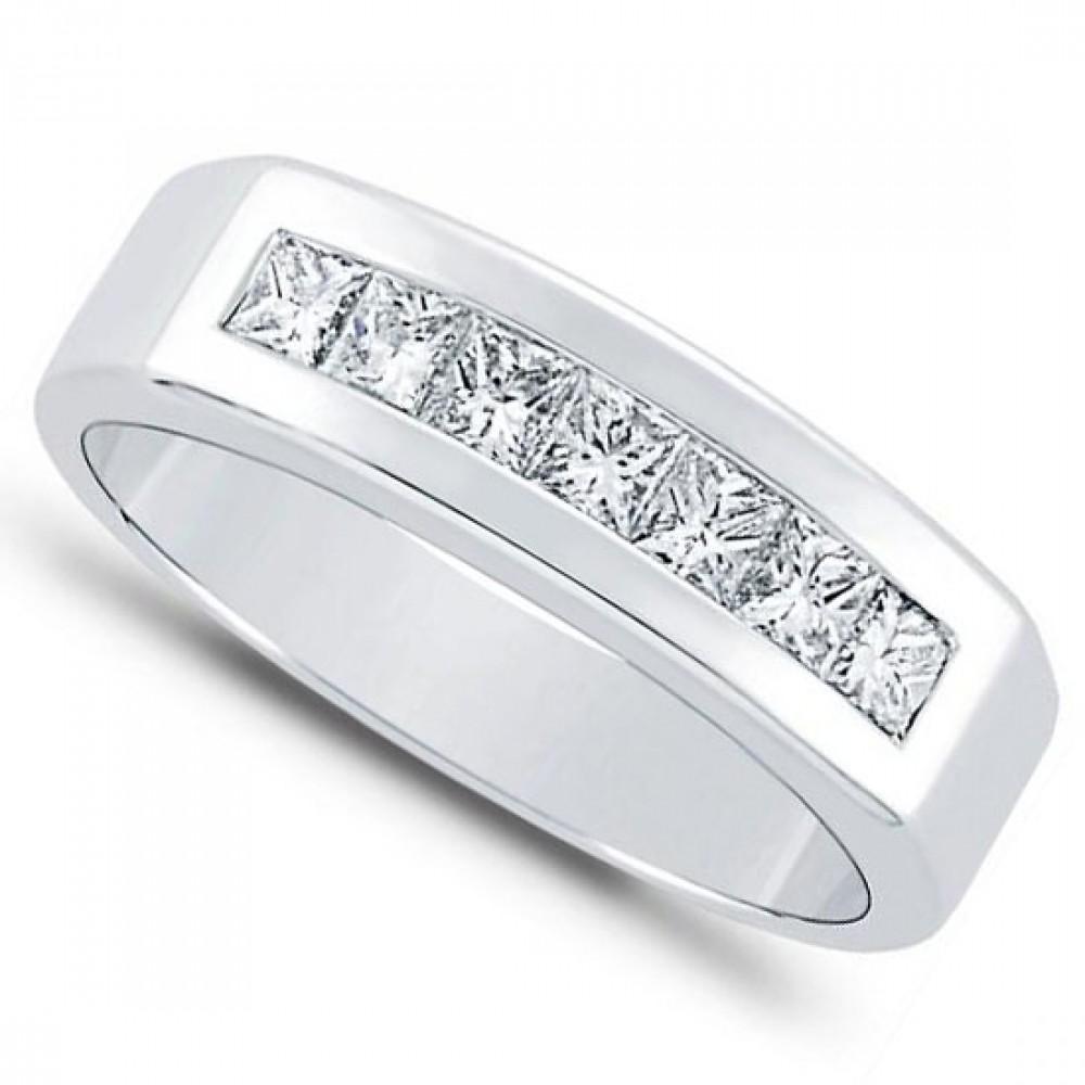 1 00 ct Men's Princess Cut Diamond Wedding Band Ring mens diamond wedding bands 1 00 ct Men s Princess Cut Diamond Wedding Band ring